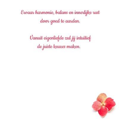 Vriendschapskaart mandala met hortensia in aardetinten 3