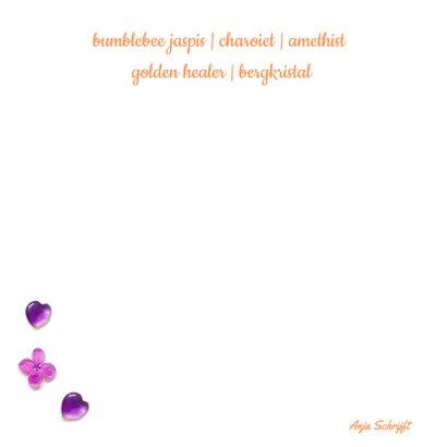 Vriendschapskaart mandala met jaspis amethist en bloemen 2