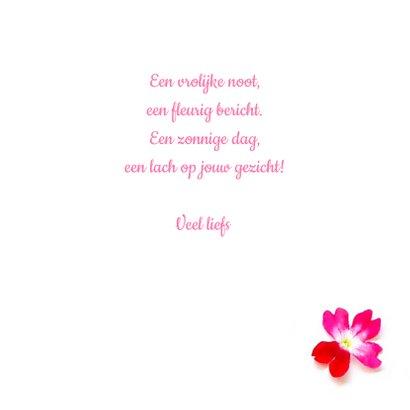 Vriendschapskaart mandala met roze bloemen en edelstenen 3