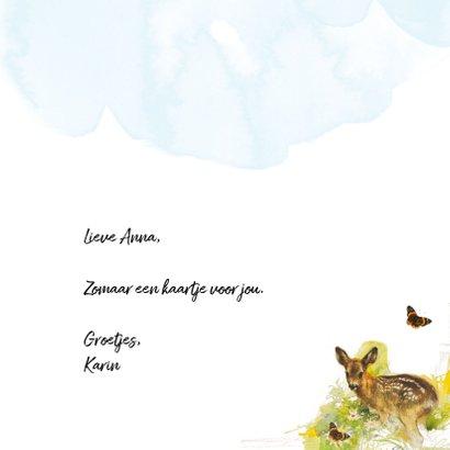 Vriendschapskaart met lief hertje 3