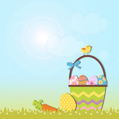 Vrolijk Pasen met paashaas 2