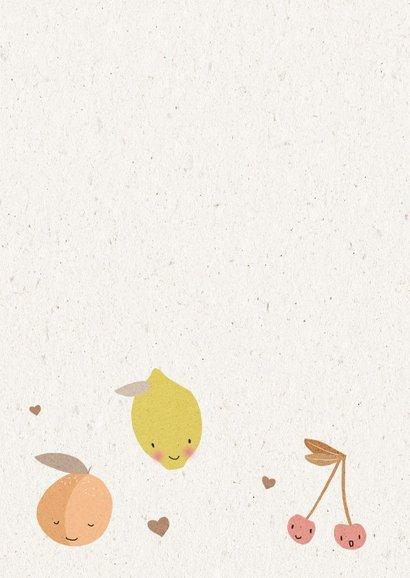 Vrolijke beterschapskaart met schattig fruit 2