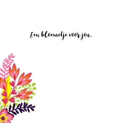 Vrolijke bloemenkaart met een bos bloemen  2