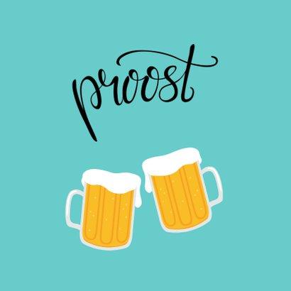 Vrolijke en gezellige verjaardagskaart met bier. Proost! 2