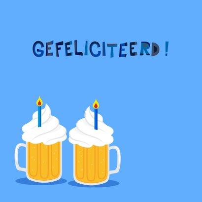 Vrolijke en grappige verjaardagskaart met bier 2