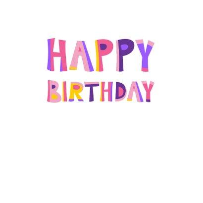 Vrolijke en kleurrijke verjaardagskaart met kat met bril 2