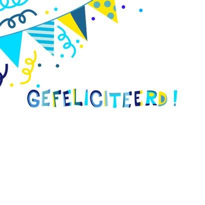 Vrolijke en kleurrijke verjaardagskaart met slingers 2