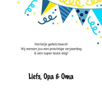Vrolijke en kleurrijke verjaardagskaart met slingers 3
