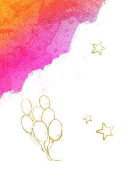 Vrolijke felicitatiekaart geslaagd met verflook en goud 2