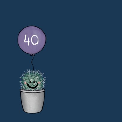 Vrolijke felicitatiekaart huwelijksjubileum met cactussen 2