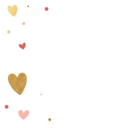 Vrolijke huwelijkskaart met hartjes 2