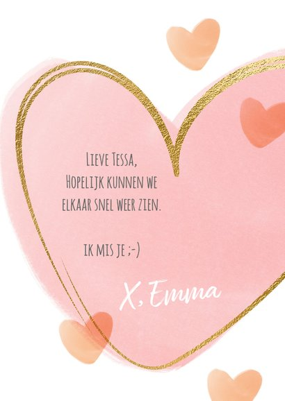 Vrolijke kaart dikke knuffel hart 3