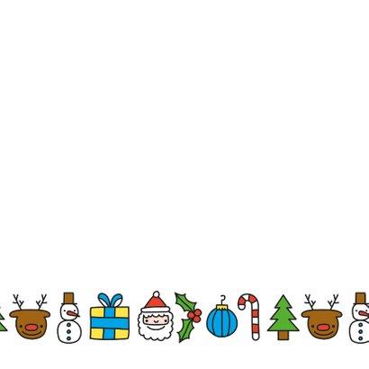 Vrolijke kerst doodles krans kerstkaart 2