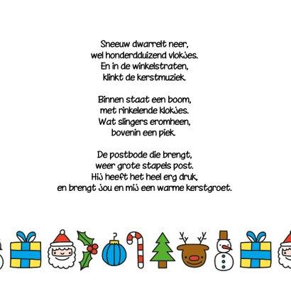 Vrolijke kerst doodles krans kerstkaart 3