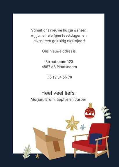 Vrolijke kerst-verhuiskaart met illustraties 3