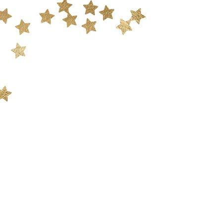 Vrolijke kerstkaart 2 fotos en sterren goud 2