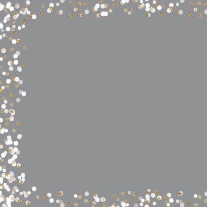 Vrolijke kerstkaart foto sterretjes sneeuw confetti 2