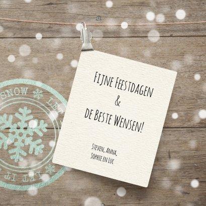 Vrolijke kerstkaart label foto 3