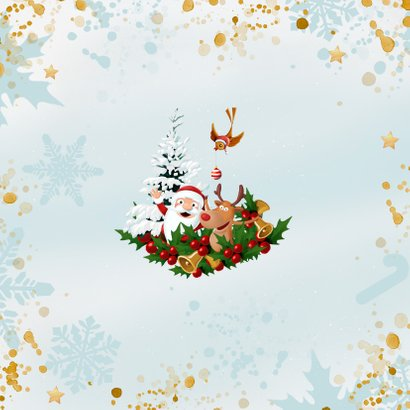 Vrolijke Kerstkrans met eigen foto Achterkant