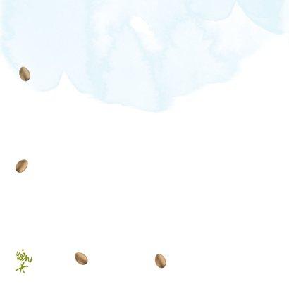 Vrolijke paaskaart met eieren, kippen en hanen 2