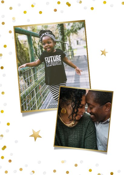 Vrolijke paaskaart met eigen foto en confetti 2