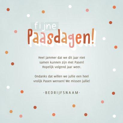 Vrolijke Paaskaart met paasei, confetti en Fijne Paasdagen! 3