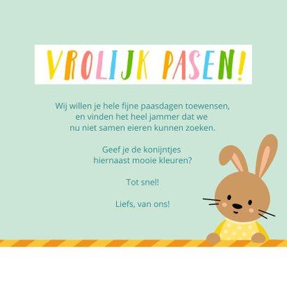 Vrolijke paaskaart voor kinderen met kleurplaat 3