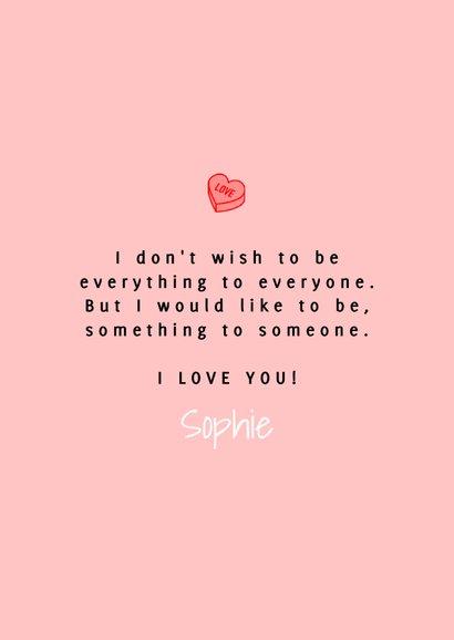Vrolijke valentijnskaart met foto en snoep hartjes 3