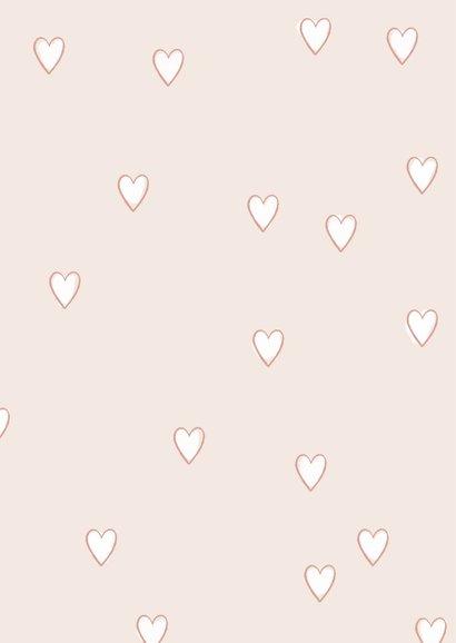 Vrolijke valentijnskaart met geïllustreerd boeket en hartjes 2