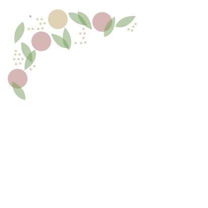 Vrolijke verjaardagskaart met stippen en bladeren 2