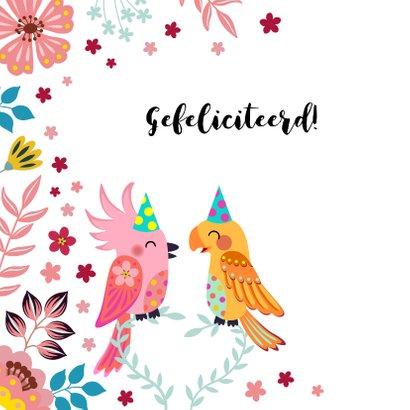 Vrolijke vogels verjaardagskaart  2