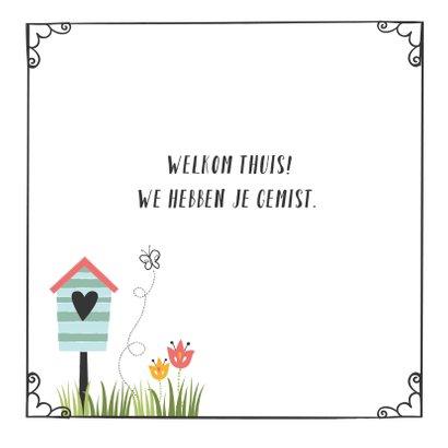 Vrolijke Welkom Thuis kaart 3