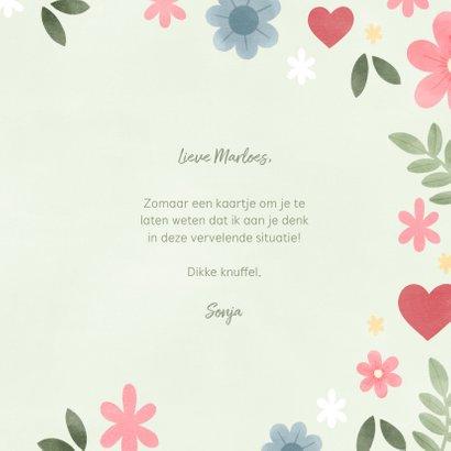 Vrolijke zomaar kaart bloemen en tekst 'Liefs' 3