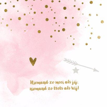 Waterverf confetti geboortekaartje meisje - LO 2
