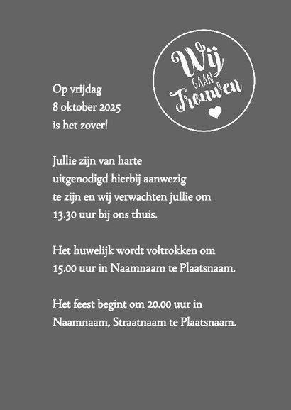 We say yes trouwkaart 3