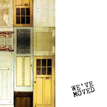 We've moved verhuiskaart met deuren en sleutelgat 2