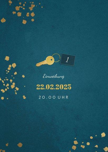Weihnachts-Umzugskarte mit 2 Fotos und Schlüssel 2