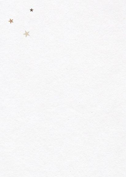 Weihnachtskarte Baum aus Fotos mit Sternen 2