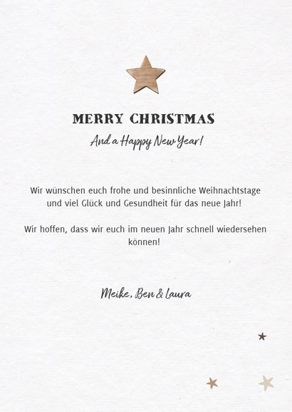 Weihnachtskarte Baum aus Fotos mit Sternen 3