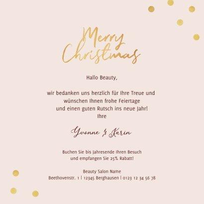 Weihnachtskarte Beautysalon Weihnachtskugeln 3