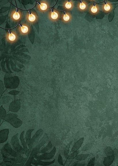 Weihnachtskarte botanisch Foto & Lichterkette 2