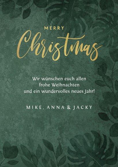 Weihnachtskarte botanisch Foto & Lichterkette 3