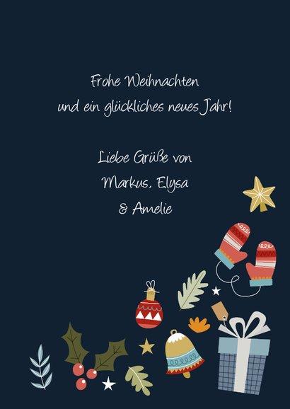 Weihnachtskarte Bunte Wintergrüße 3