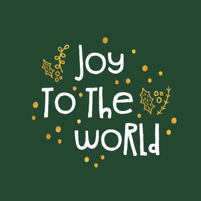 Weihnachtskarte christlich 'Joy to the world' 2