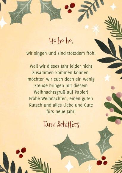 Weihnachtskarte Cor-ho-ho-ho-na 3