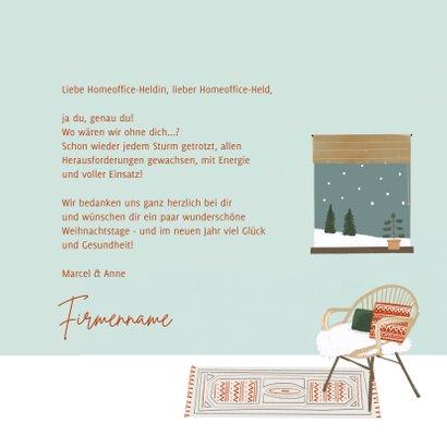 Weihnachtskarte Danke Held des Homeoffice 3