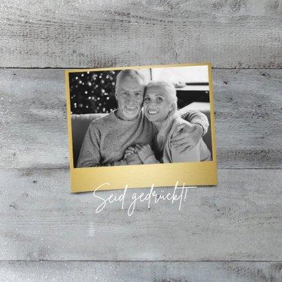 Weihnachtskarte eigenes Foto auf Holz 2