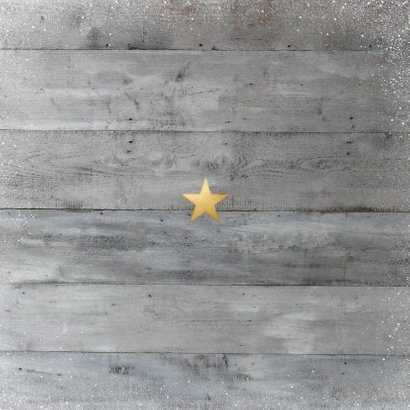 Weihnachtskarte eigenes Foto auf Holz Rückseite