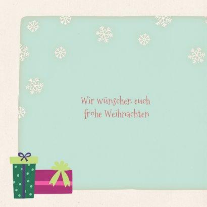 Weihnachtskarte Eisbär mit Lichterkette 2