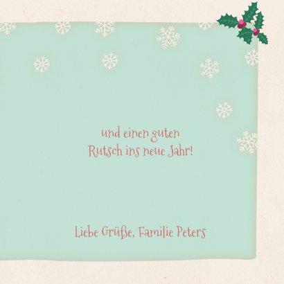 Weihnachtskarte Eisbär mit Lichterkette 3